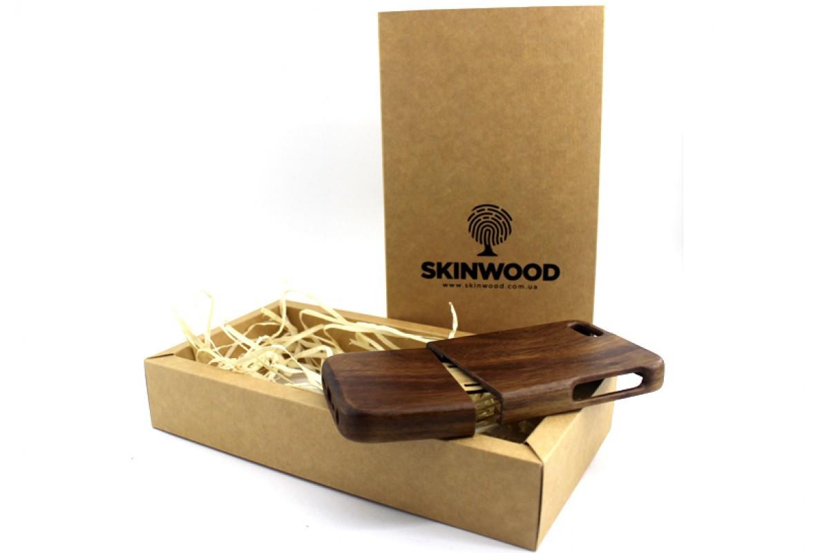 Эксклюзивный деревянный раскладной чехол Американский орех для iPhone 5/5s