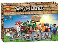 Конструктор Bela серия My World 10177 Набор для крафтинга 8в1 (аналог Lego Майнкрафт, Minecraft 21116)