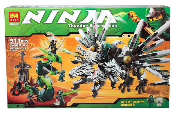 Конструктор Bela серия NINJA / Ниндзя 9789 (Четырёхглавый дракон)