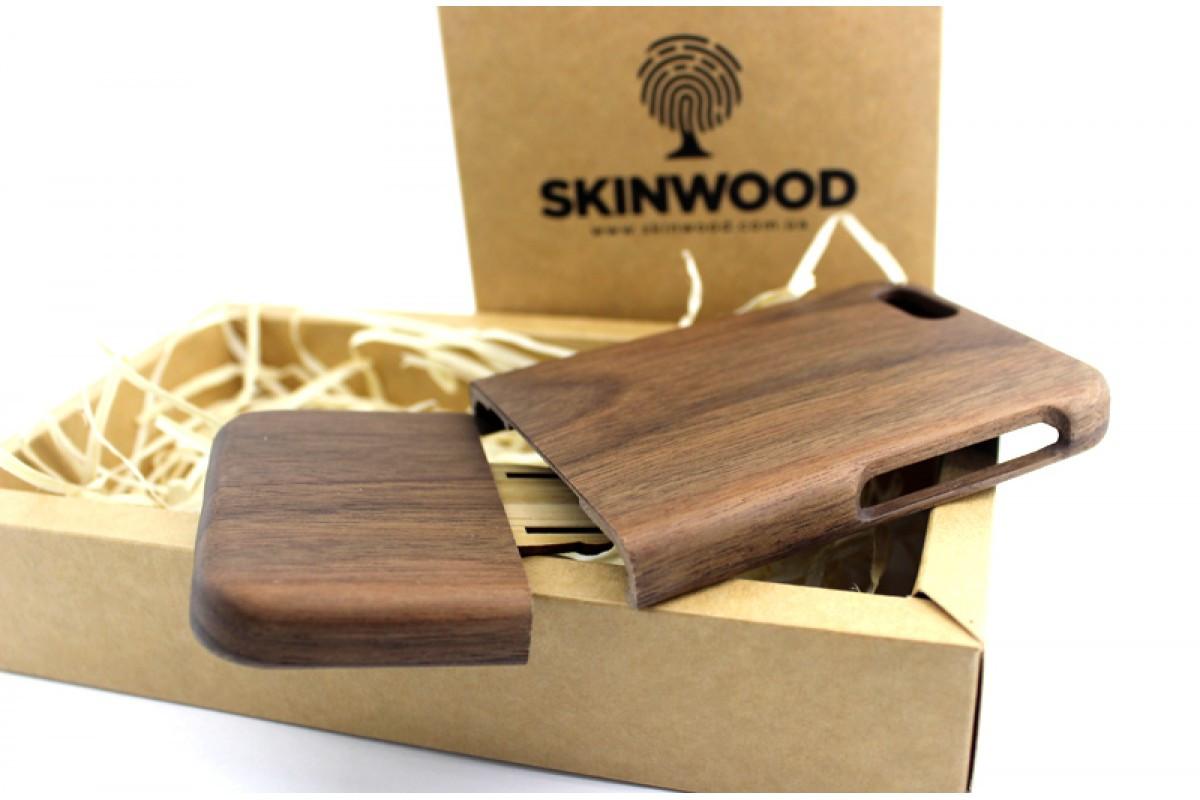 Эксклюзивный деревянный раскладной чехол Американский орех для iPhone 6/6S