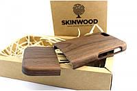 Эксклюзивный деревянный раскладной чехол Американский орех для iPhone 6/6S, фото 1