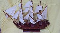 Модель деревянного парусника размер 76*60