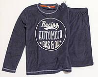 Детская теплая пижама для мальчика р.140