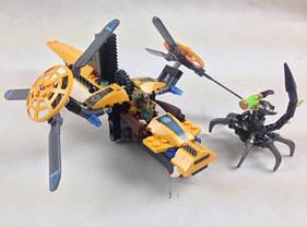 Конструктор Bela серия Chimo 10074 Двухмоторный вертолет Лавертуса (аналог Lego Legends of Chima 70129), фото 3
