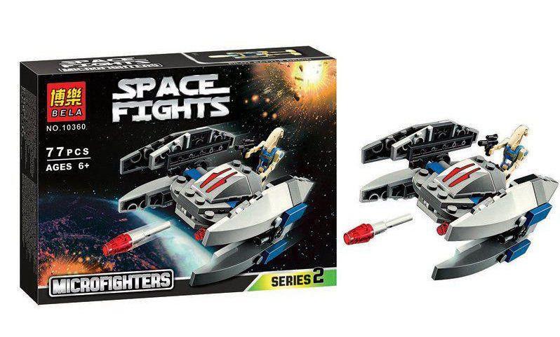 Конструктор Bela серия Space Fights / Звездные воины 10360 (Дроид-Стервятник)