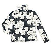 Стильный гольф Цветы для девочки 4-11 лет (модная кофточка, размер 104-146) ТМ Kids Couture