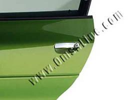 Накладки на ручки дверей Ауди A4 B7 из нержавейки (2, 4 шт)