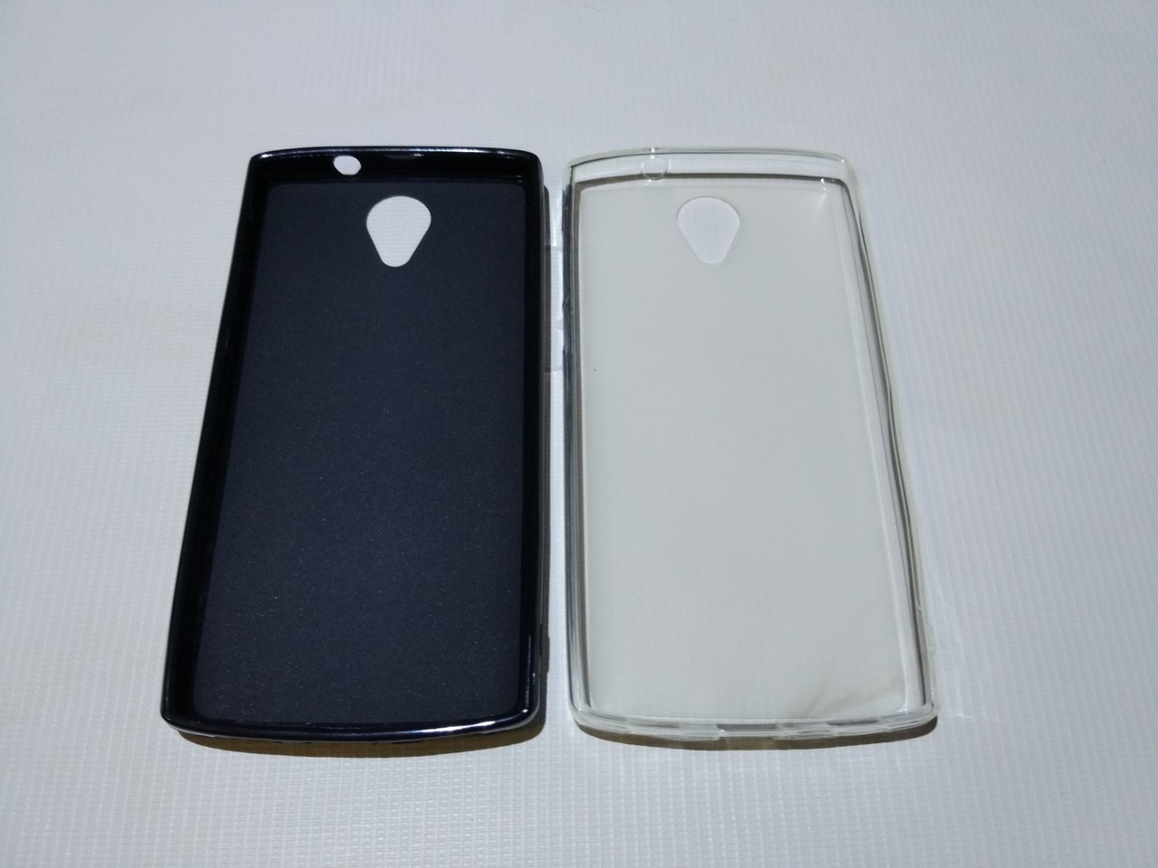 Силиконовый чехол бампер для Homtom HT7, HT7 Pro, Ergo A550 Maxx (черн