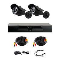 Комплект AHD видеонаблюдения на 2 уличные камеры CoVi Security AHD-2W KIT // AHD-2W KIT