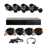 Комплект AHD видеонаблюдения на 4 уличные камеры CoVi Security AHD-4W KIT // AHD-4W KIT