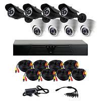 Комплект AHD видеонаблюдения на 8 камер (4+4) CoVi Security AHD-44WD KIT // AHD-44WD KIT