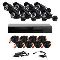 Комплект AHD видеонаблюдения на 8 уличных камер CoVi Security AHD-8W KIT // AHD-8W KIT