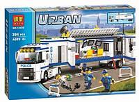 Конструктор Bela серия Urban 10420 Выездной загон полиции (аналог Lego City 60044)