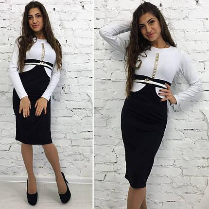 Платье черно-белое, фото 2