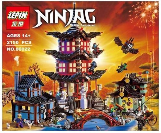 Конструктор Lepin серия NINJA / Ниндзя 06022 Храм Аэроджитсу (аналог Lego Ninjago 70751)