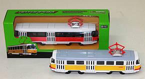 Трамвай металлический 6411 ABCD инерционный Автопром, фото 2