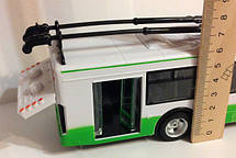 Игрушка Троллейбус (Автобус) 9690 ABCD инерционный Автопром. Свет, Звук, Двери открываются, фото 3
