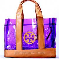 Женская сумка Tory Burch фиолетовая, фото 1