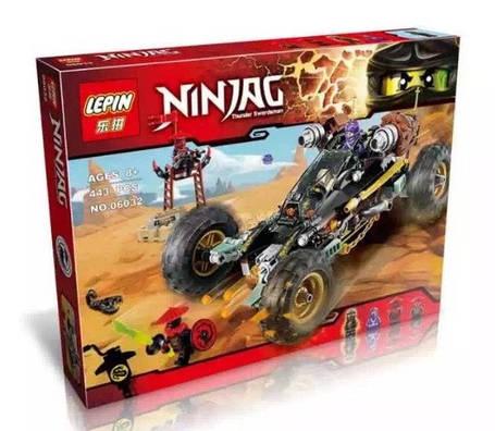 Конструктор Lepin серия NINJA / Ниндзя 06032 Земляной Внедорожник Коула (аналог Lego Ninjago 70589), фото 2