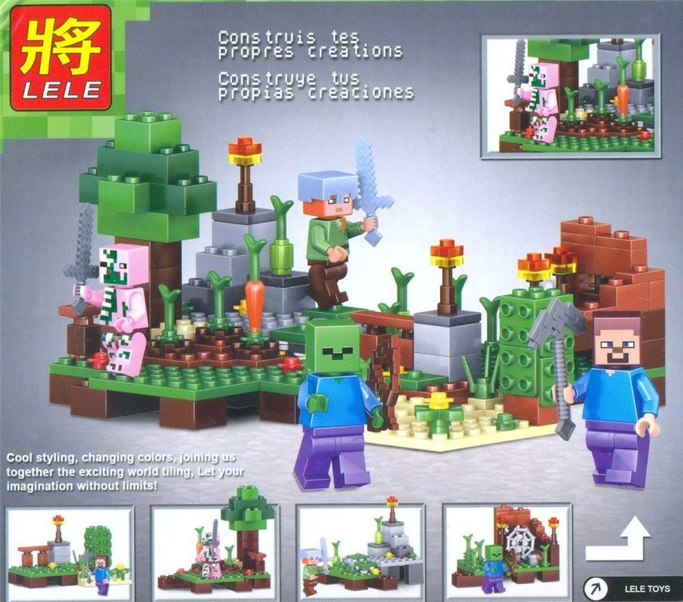 Конструктор Lele серия My World 79284 4в1 (4 вида, аналог Lego Майнкрафт, Minecraft)
