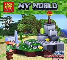 Конструктор Lele серия My World 79284 4в1 (4 вида, аналог Lego Майнкрафт, Minecraft), фото 3