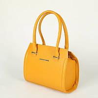 Женская желтая сумка М68-18 деловой небольшой саквояж