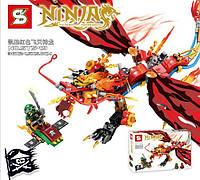 Конструктор Bela серия Ninja / Ниндзя SY549 Красный дракон (Аналог Lego Ninjago)