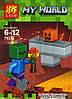 Конструктор Lele серия My World 79286 8 видов (аналог Lego Майнкрафт, Minecraft), фото 3