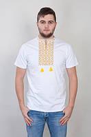 Мужская вышатая футболка на короткий рукав