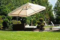 Зонт консольный   QUADRO   3,0 X 3,0 м с базой , 10 оттенков