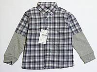 Детская рубашка в клетку для мальчика р.110