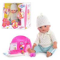 Кукла Пупс Baby Born (Беби Борн) BB 8001 E. 9 функций, в зимней одежде.