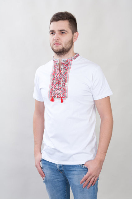 Вышитая мужская футболка