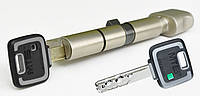 Цилиндр Mul-t-lock MT5+ 100мм (40х60T) ключ-тумблер никель-сатин