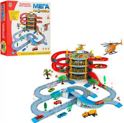 Игровой набор Гараж Мега парковка 922-10. 4 этажа. 2 машинки, фото 2