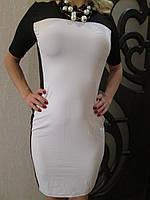 Платье SUNNYFAIR, цвет черный/белый, размер 42-44 (S/M)