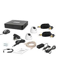 AHD комплект наблюдения на 2 купольные уличные камеру Tecsar 2OUT-DOME, 1 Мп // 2OUT-DOME