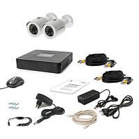 Комплект AHD видеонаблюдения на 2 уличные камеры Tecsar 2OUT, 1 Мп // 2-out