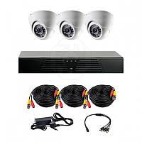 Комплект AHD видеонаблюдения на 3 внутренние камеры CoVi Security AHD-3D KIT // AHD-3D KIT