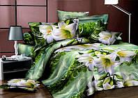 Комплект постельного белья  семейный с лилиями