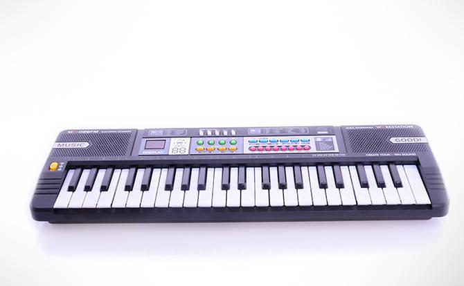 Детский синтезатор MQ-026 FM. Микрофон. FM радио., фото 2