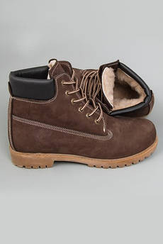 Мужские зимние Ботинки Timberland Classics темно-коричневые