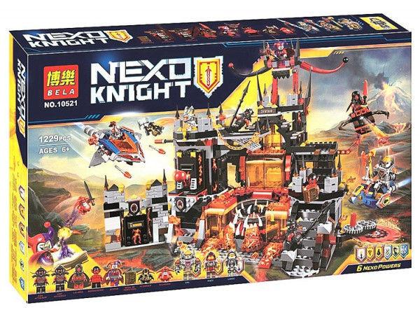Конструктор Bela 10521 Вулканическое логово Джестро. Нексо Найтс (Аналог Lego Nexo Knights 70323)