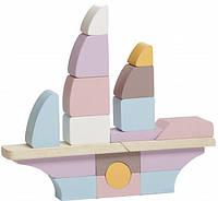 Деревянная игрушка Корабль Cubika