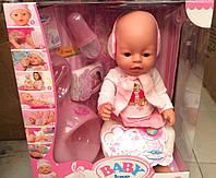Кукла Пупс Baby Love BL010B аналог Baby Born (Беби Борн) 42 см, 8 функций, 9 аксессуаров