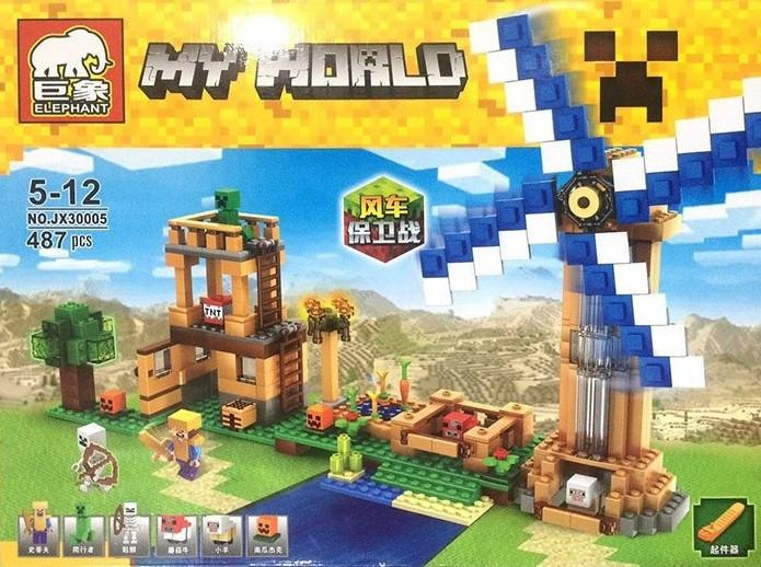 Конструктор Elephant серия My World JX30005 (аналог Lego Minecraft / Майнкрафт)