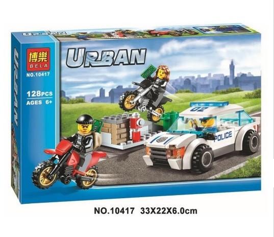 Конструктор Bela серия Urban 10417 Скоростная полицейская погоня (аналог Lego City 60042)
