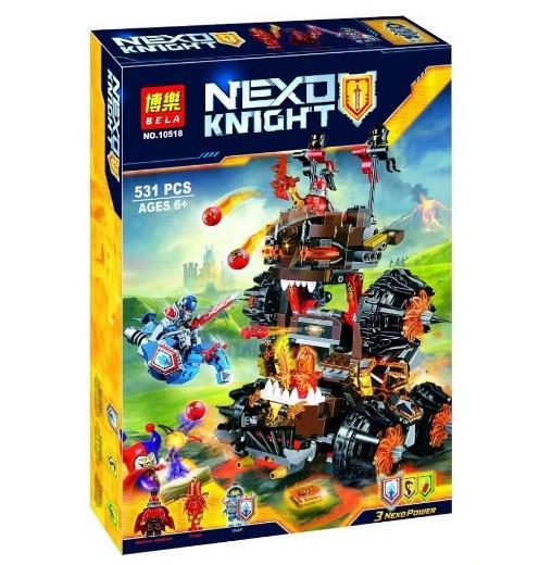 Конструктор Bela Nexo Knight 10518 Осадная машина генерала Магмара (Аналог Lego Nexo Knights 70321)