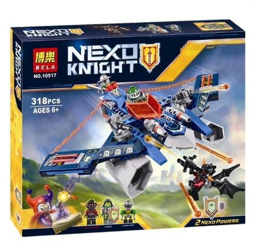 Конструктор Bela серия Nexo Knight 10517 Воздушный страйкер Аарона (Аналог Lego Nexo Knights 70320)