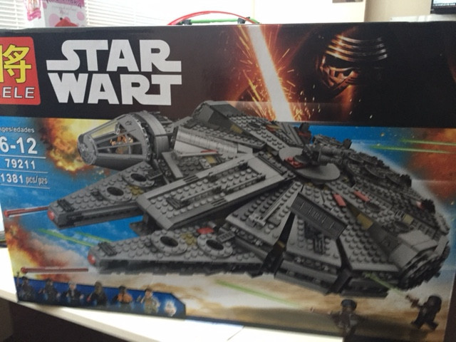 Конструктор Lele серия Star Wart 79211 Сокол Тысячелетия (аналог Lego Star Wars 75105)